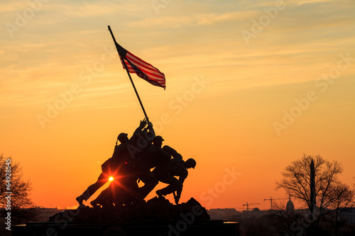 Deurstickers Historisch mon. Iwo Jima Memorial Washington