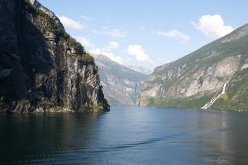 Waterfalls in Geirangerfjord