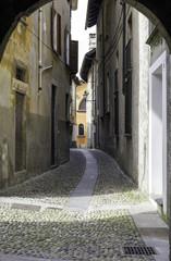 Cannero Riviera, Lake Maggiore, old city view color image