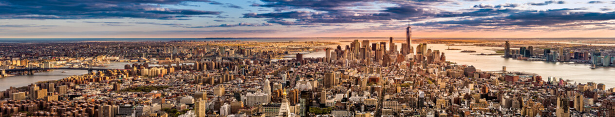 New York Panorama before sunset