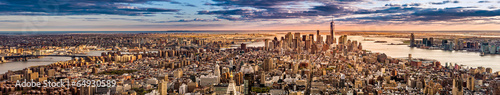 Fototapeta New York Panorama before sunset
