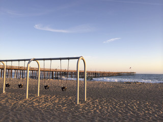 Childrens Outdoor Swings at Ventura Beach, CA