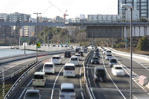 Foto op Plexiglas Japan 東京都心の大動脈 首都高速道路(老朽化が進む道路を大規模改修計画発表)