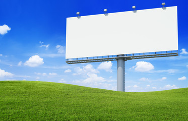 Large Billboard on a hill