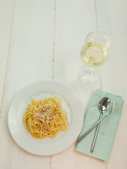 serving of spaghetti carbonara