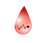blood and lifeline illustration design poster