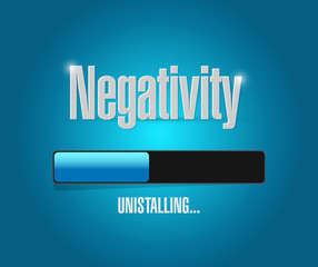 uninstalling negativity illustration design