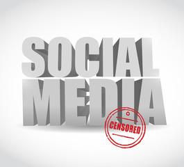 social media censored sign illustration