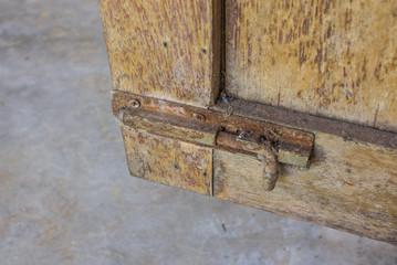 Hasp on the door Old.