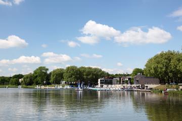 Aasee lake in Munster, Germany