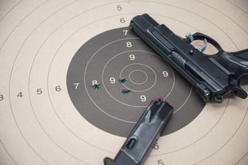 paper target gun pistol magazine