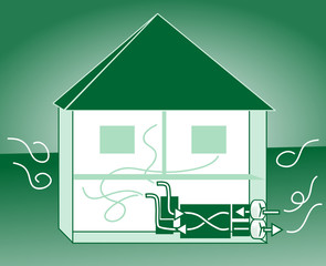 Energiesparhaus Lüftungsanlage