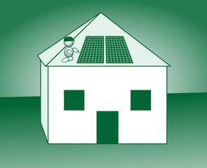 Energiesparhaus Photovoltaikanlage