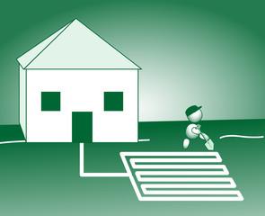Energiesparhaus Erdkollektoren