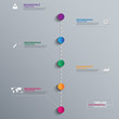 Abstract 3D digital Infographic