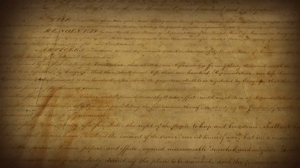 Bill of Rights - motion background
