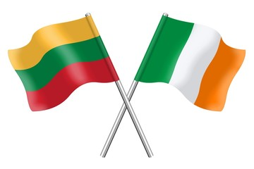 Flags : Lithuania and Ireland
