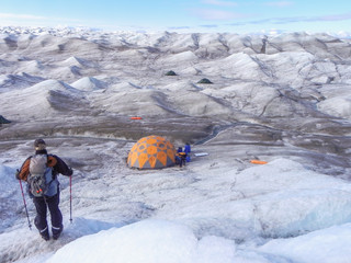 Greenland ice camping