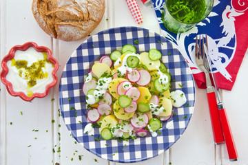 Kartoffelsalat mit Gurken