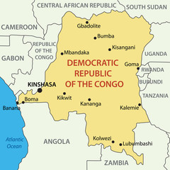 Democratic Republic of the Congo - vector map
