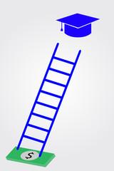 Graduation cap dan stair
