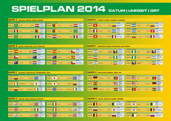 Spielplan 2014   Datum   Uhrzeit   Ort