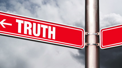 Truth or lie opposite direction signs