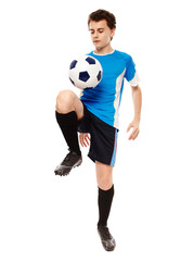 Teen soccer player