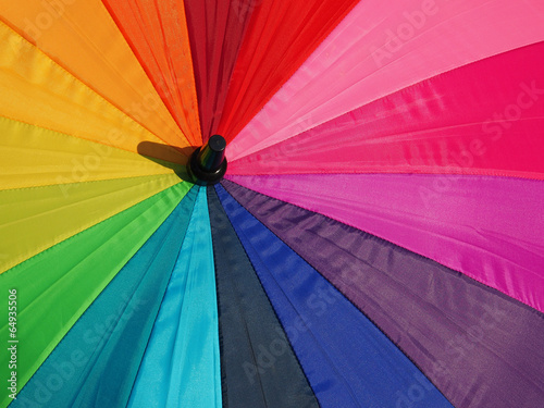 Colorful pattern of an umbrella