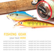 Fishing gear is isolated on a white background - 64935764