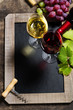 Wine and grape background