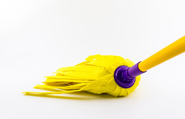 Yellow cleaning mop for floor.