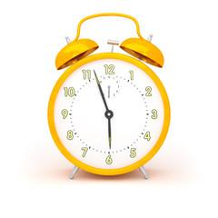 orange alarm clock