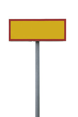 Blank warning sign