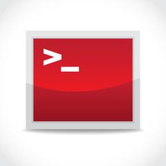 Terminal symbol, icon
