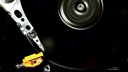 HDD drive spin up and head movement