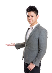 Asia businessman present