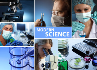 modern science collage