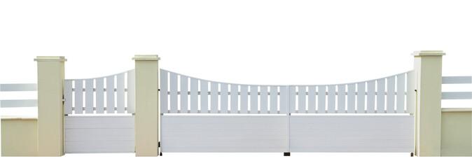Photos illustrations et vid os de portail pvc for Portillon blanc