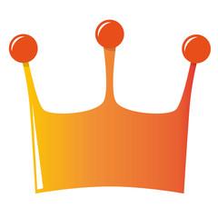 orange crown illustration