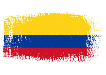 brushstroke flag Colombia