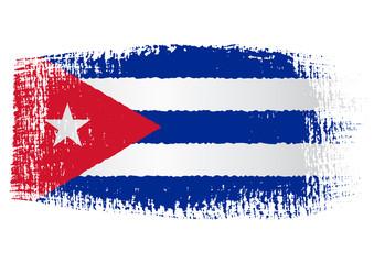 brushstroke flag Cuba