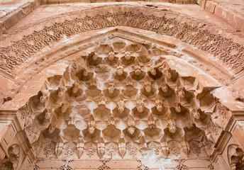 Architecture detail at Ishak Pasha palace in Dogubeyazit