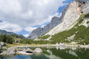 Double Lake at Triglav Lakes Valley