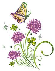 Bunte Sommerblumen, Sommer, Klee