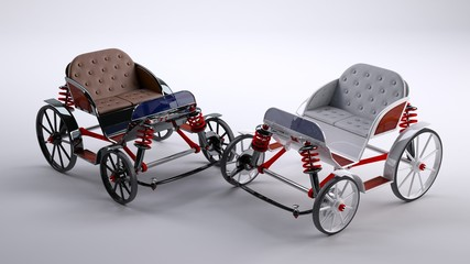 fantasy Black_and_White cart