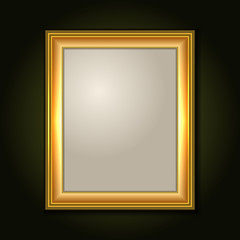 Gold Picture Frame with Light Canvas