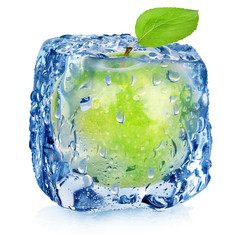 Frozen green apple