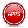 apps red glossy icon