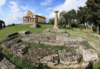 historical ruins of Paestum
